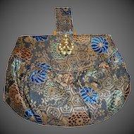 Chinese Silk Brocade Art Deco Small Purse