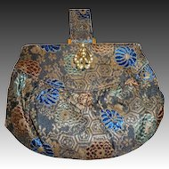 Chinese Silk Brocade Art Deco Small Purse