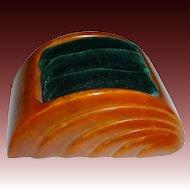 Art Deco Bakelite & Velvet Ring Display c1920s