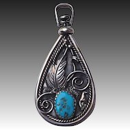 Native American Sterling Double Sided Pendant