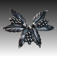 Designer Sterling Carl Ruopoli Leaf & Berry Pin