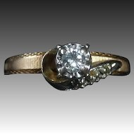 14k Yellow & White Gold Diamond Engagement Ring