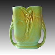 Rare Art Deco Rumrill Blended Glaze Vase w Dancing Nude