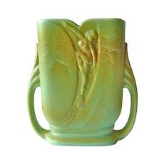 Rare Art Deco Rumrill Blended Glaze Vase w Dancing Nude