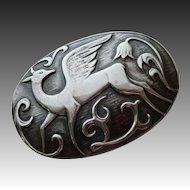 Coro Norseland Rare Sterling Pegasus Pin