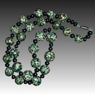 Turquoise Mosaic Ethnic Handmade Bead Necklace