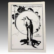 Original Art Nouveau Bookplate~ Woman & Panther ~Elias Leiberman Set of 3