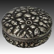 Antique Gorham Sterling Repousse Box