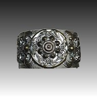 Victorian Revival Ornate Wide Hinged Bracelet