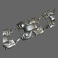 Coro Norseland Sterling Chunky Geometric Bracelet