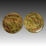 Art Deco 2 Piece Celluloid Button Buckle