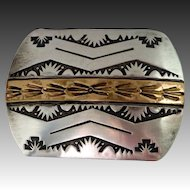 Handcrafted Sterling & GF Western Style Belt Buckle