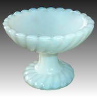 French Milk Glass Miniature Pedestal Dish