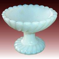 French Milk Glass Miniature Pedestal Dish