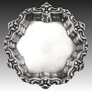 Antique Sterling Art Nouveau Floral Edge Pin Tray