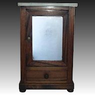 Miniature Marble Top Wood Wardrobe Armoire