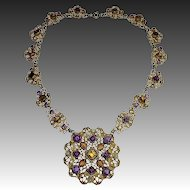 Austro~Hungarian Ornate Multi Jewel Necklace