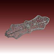 Vintage Art Deco 14k Filigree Diamond Pin