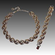 Bartek Costume Gold Tone Set Necklace & Bracelet