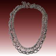 Vintage Silver Metal Belly Dancer Belt or Necklace