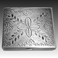 Sterling Silver Engraved & Stamped Hinged Box