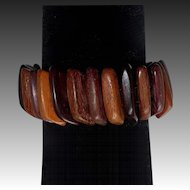 Wood Dimensional Panel Stretch Bracelet