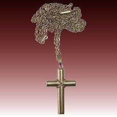 Krementz Gold Filled Cross & Chain