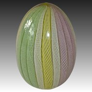 Murano Latticino Pastel Art Glass Paperweight