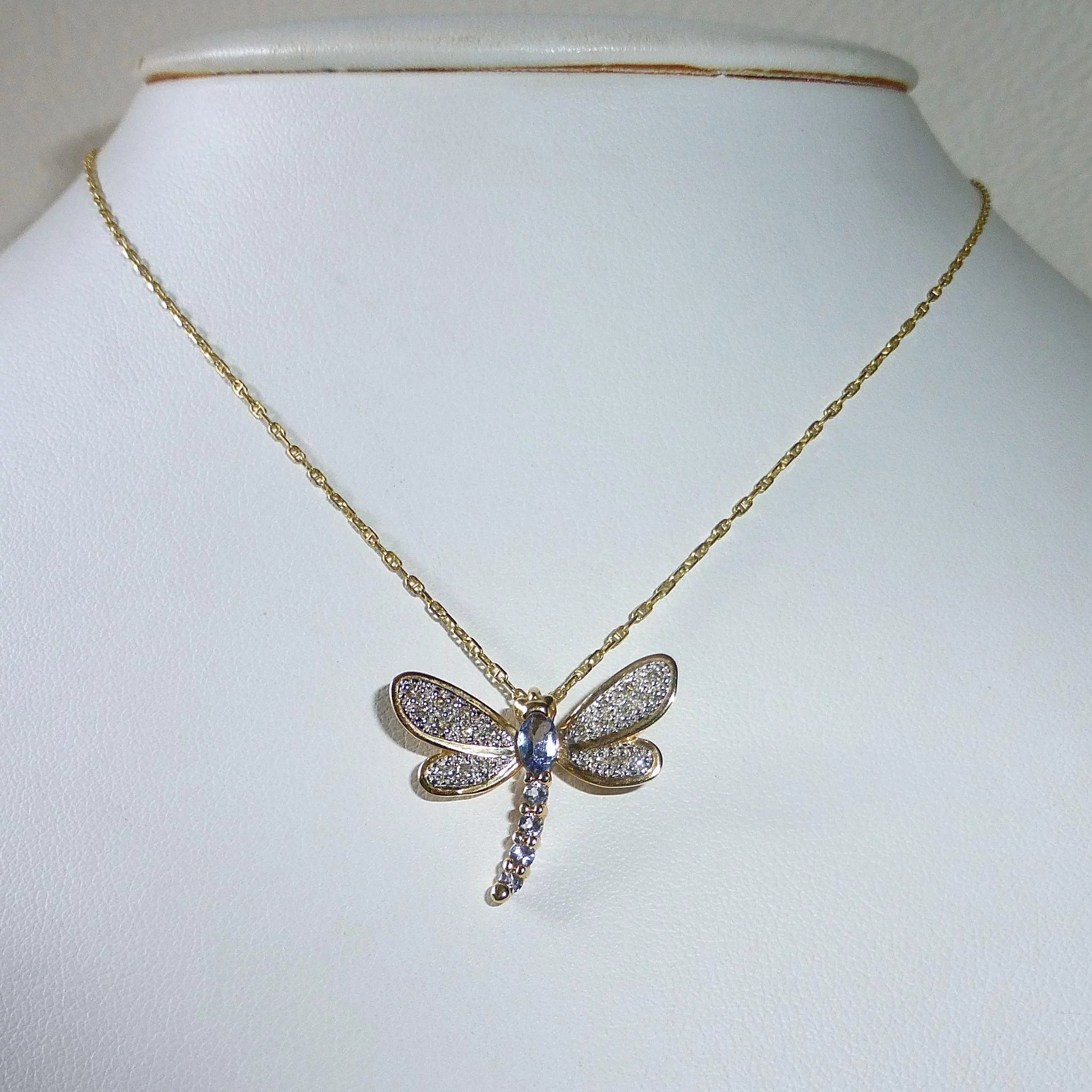 pendant sterling dragonfly b silver and bamboo products gold samuel