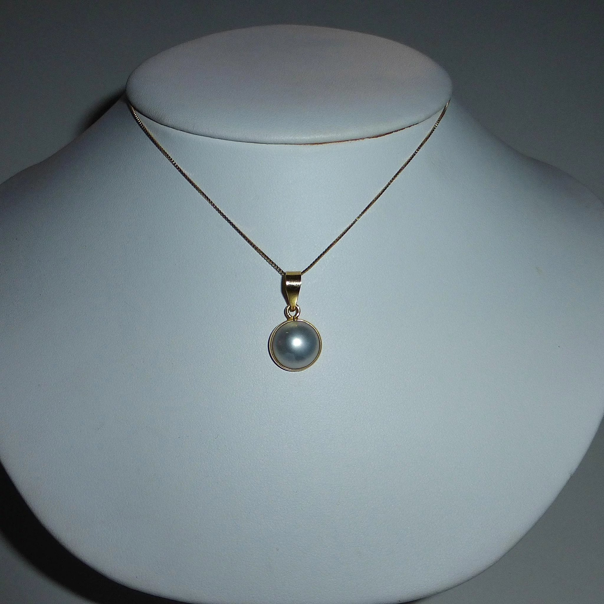 diamond products white pearl pendant pacific gold cultured w south fp