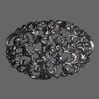 Michele Sterling Pin/Pendant Pierced Foliate Design