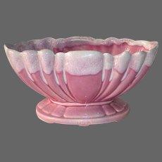 Pink Blended Glaze USA Pottery Pedestal Planter Vase