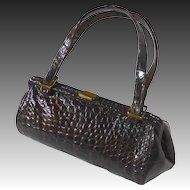 Genuine Alligator Red Brown Leather Purse