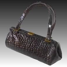 Genuine Alligator Red Brown Leather Purse