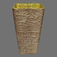 Shawnee Pottery Ceramic Burlap Textured Vase