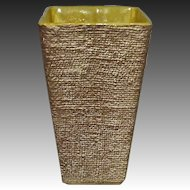 Shawnee Pottery Ceramic Burlap Textured Vase