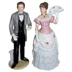 Southern Bell & Gentleman Porcelain Wedding Topper
