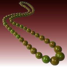 Bakelite Long Graduated EOD Graduated Bead Necklace