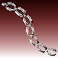 800 Silver Large Open Link Bracelet