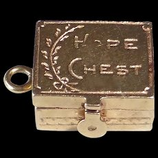 14k 'Hope Chest' Kinetic Charm - Red Tag Sale Item