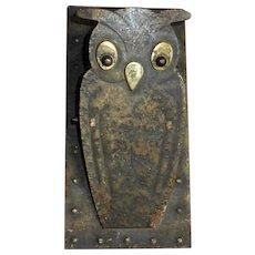 Jugendstil Arts & Crafts Owl Desk or Wall Clip Hugo Berger c1900