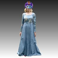 Brocade & Satin 'Game of Thrones' Long Gown
