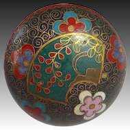 Rare Chinese Floral Design Cloisonne Top Hatpin