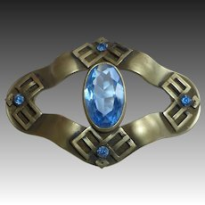 Antique Victorian Blue Jewel Sash Ornament Brooch
