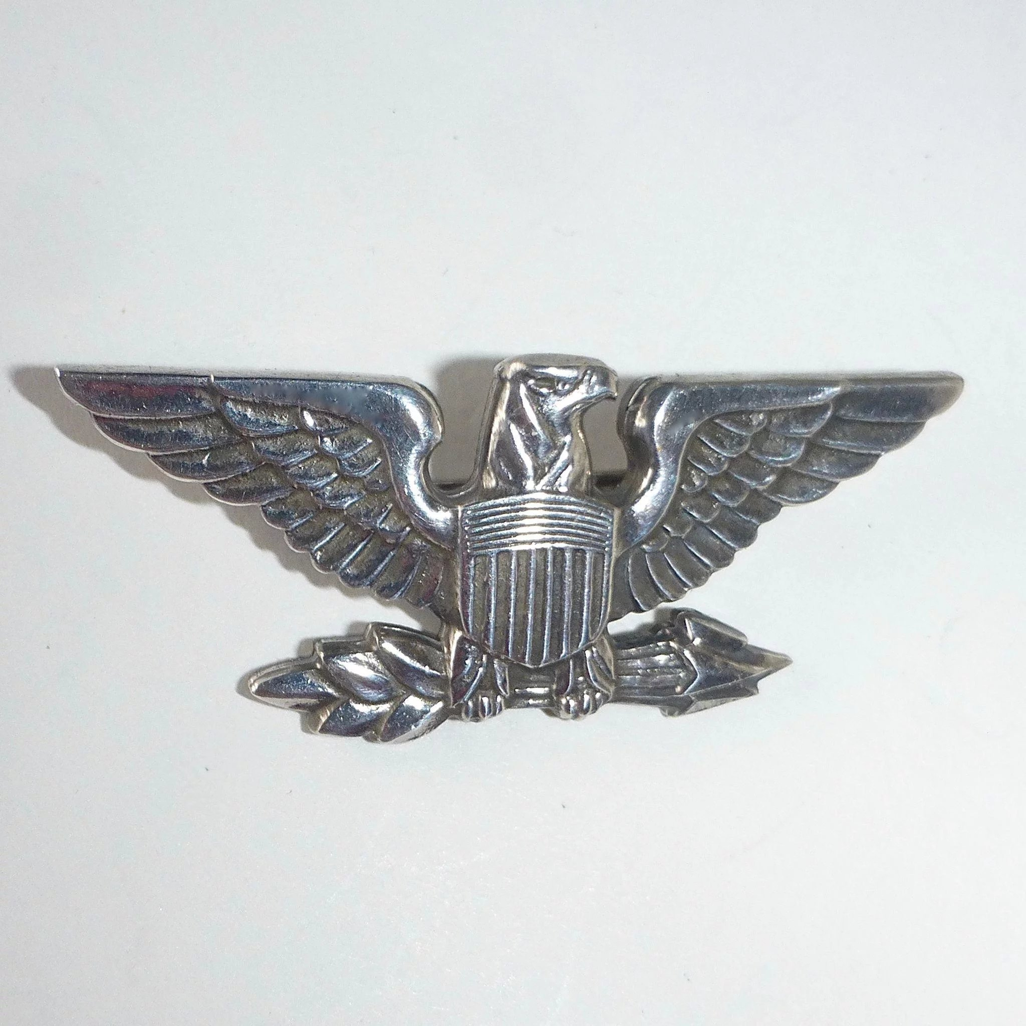 Signed Sterling Military Style Eagle Pin : BeJewelled ...