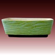 Terrace Ceramics Green Wood Grain Pottery Window Planter