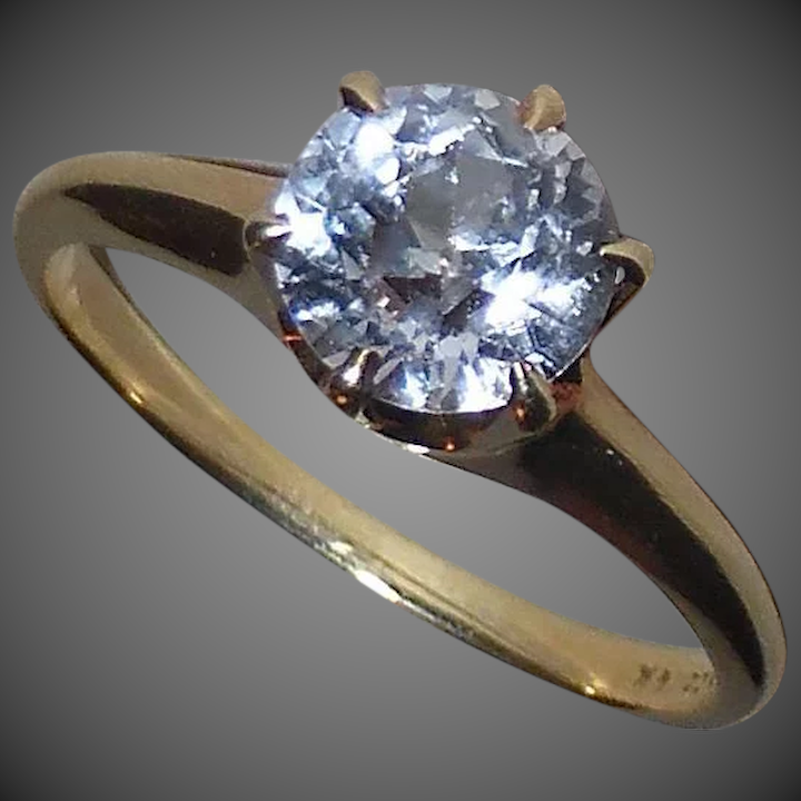 5be8a2a0c 14k Lavender Sapphire Solitaire Ring Signed B.N. : BeJewelled | Ruby ...