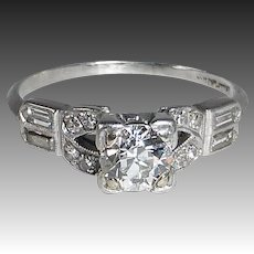 Art Deco Platinum Diamond Ring