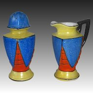 Art Deco Hand Painted Japan Sugar & Creamer