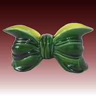 Figural Bow 1950s Ceramic Window Planter Vase